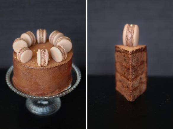 Copenhagencakes Chokoladelagkage med macarons 1