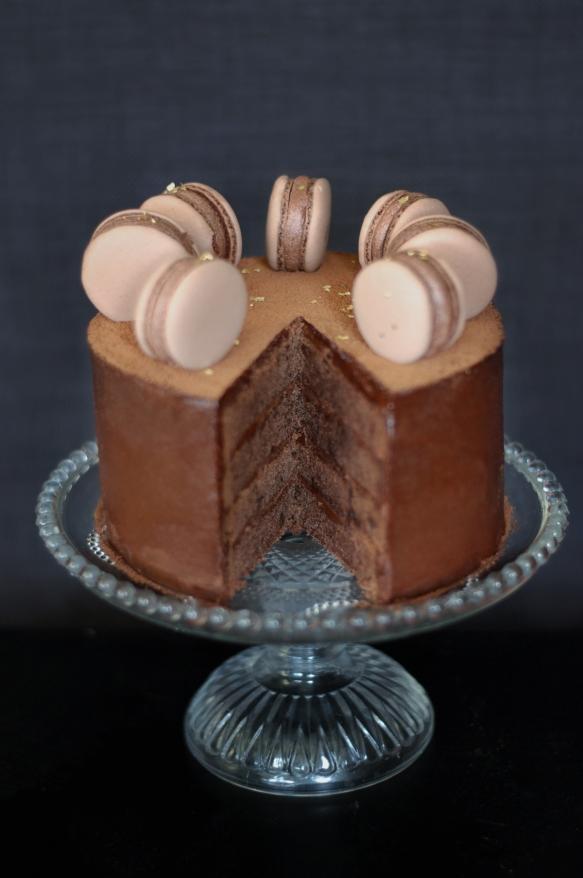 Copenhagencakes Chokoladelagkage med macarons 6