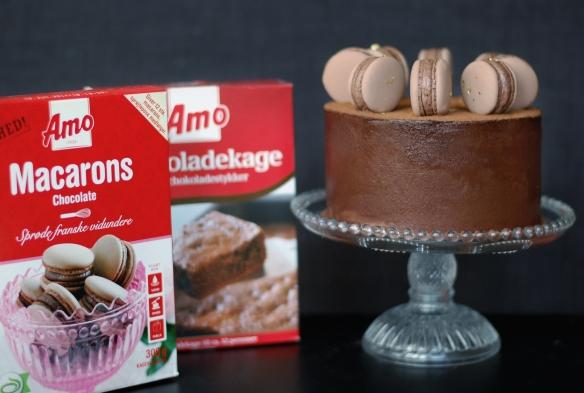 Copenhagencakes Chokoladelagkage med macarons 7